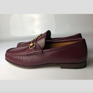 Gucci Nappa Moorea Strong Red Leather Loafers G09